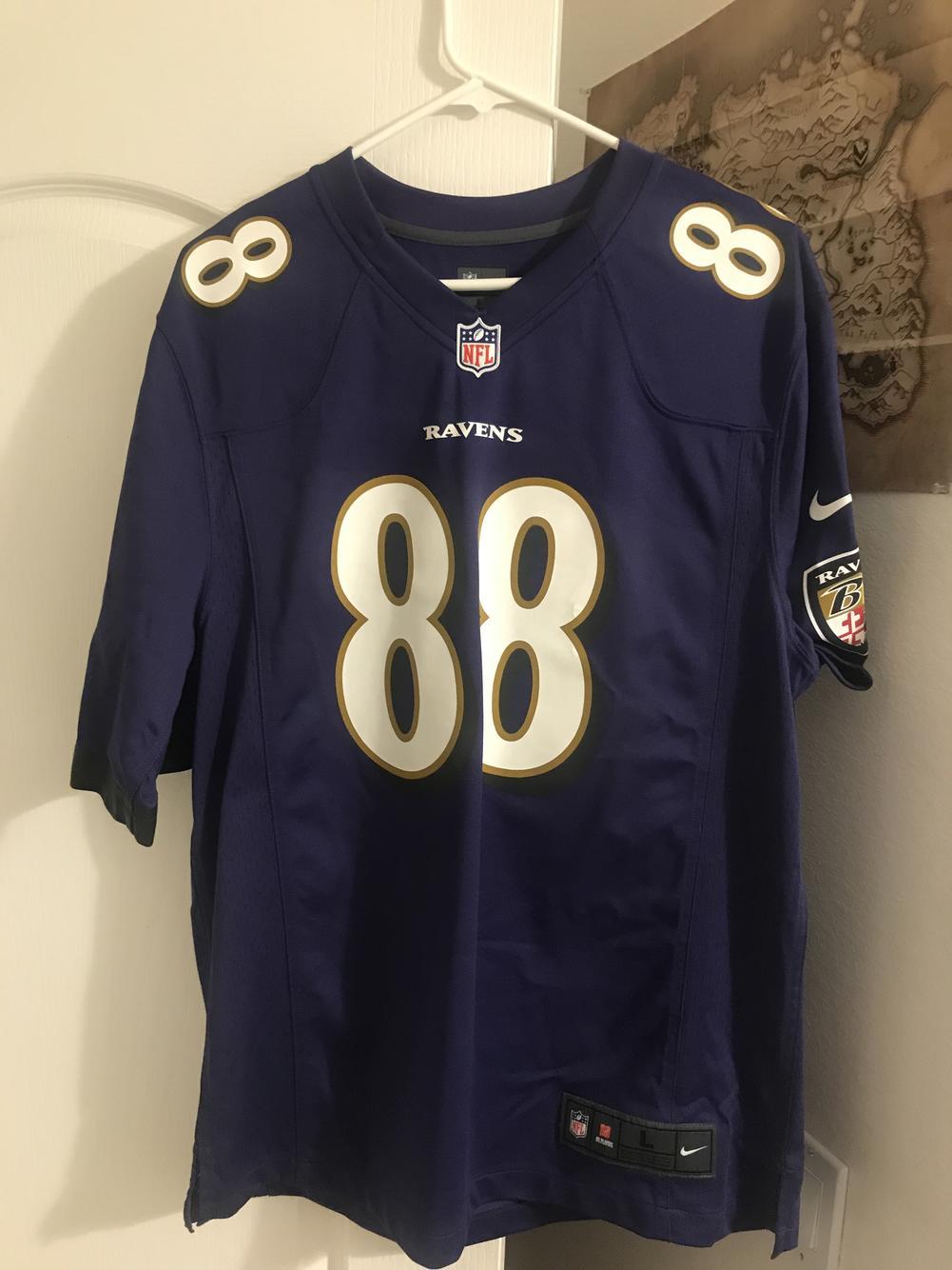 Men's Baltimore Ravens Dennis Pitta Nike Purple Game Player Jersey