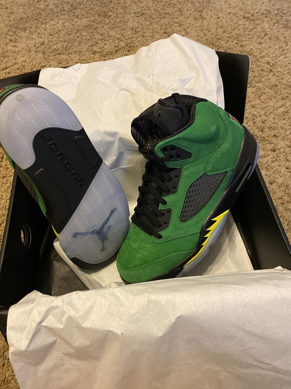 Green New Adult Men's Size 9.0 (Women's 10) Air Jordan Shoes