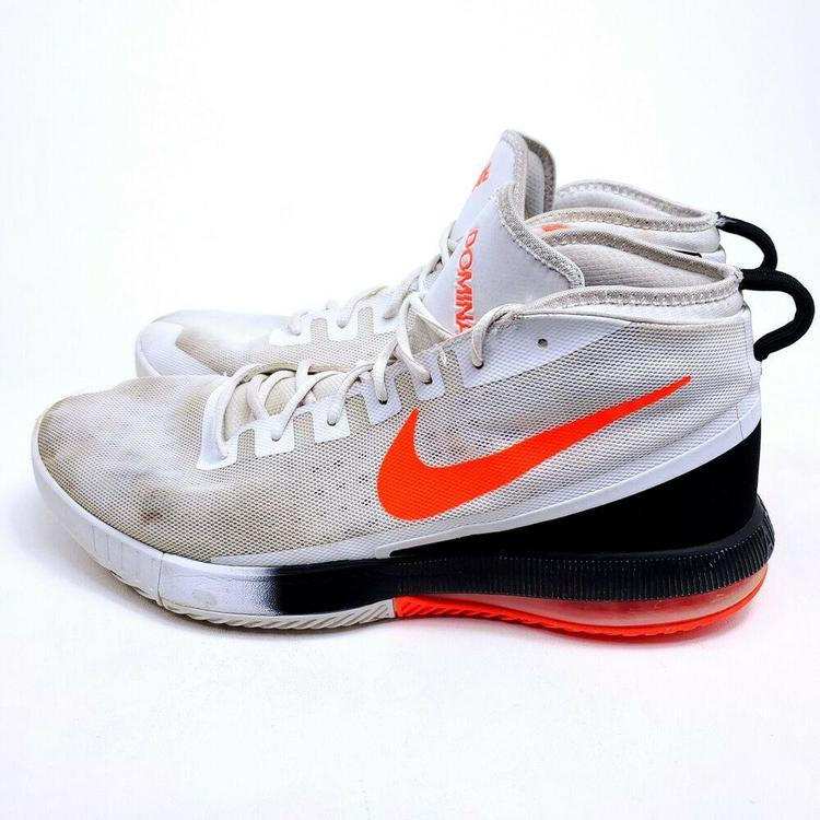 Nike AIR MAX Dominate Mens Size 15 Basketball Shoes 897651-001 White Orange