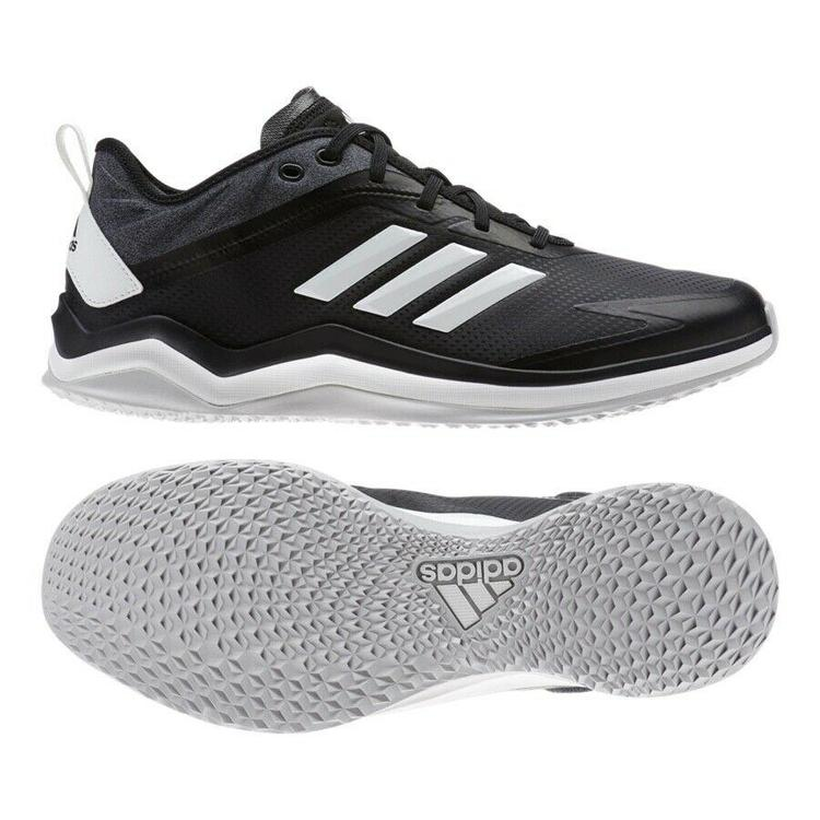Adidas Speed Trainer 4 SL Baseball Turf Shoe sz 14 Black White CG5144 Leather