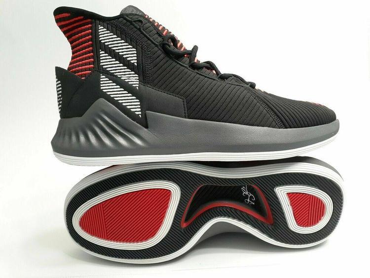 Adidas D Rose 9 sz 11 Black Red Grey
