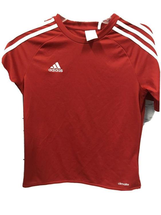 Adidas Youth Climalite Soccer Jersey Red / White Size YM New Without Tags