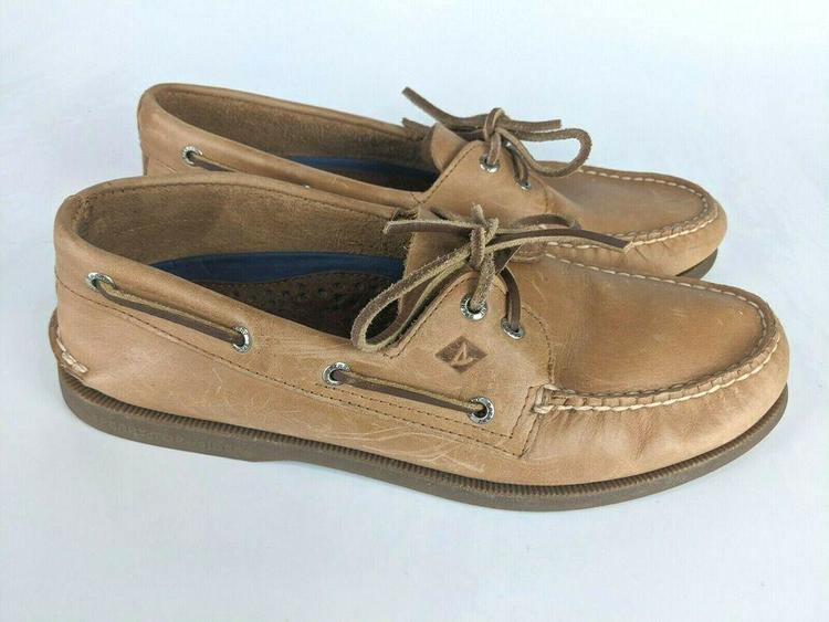 Tan Leather Boat Shoes L18-61317 Size