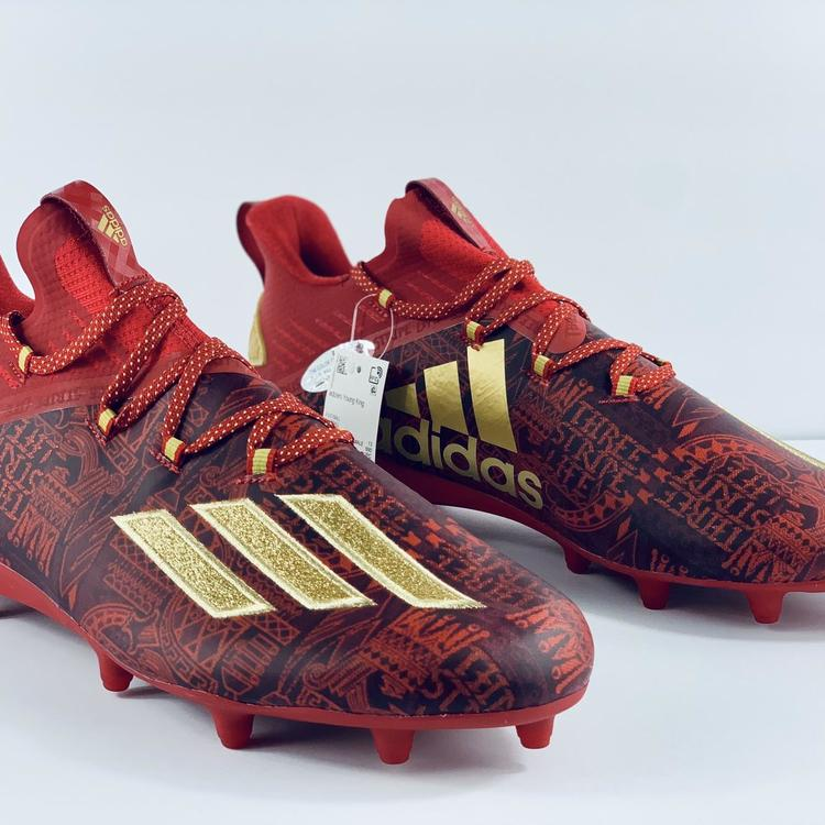 Red/Gold EF8607 Size 13.5 | Football Cleats