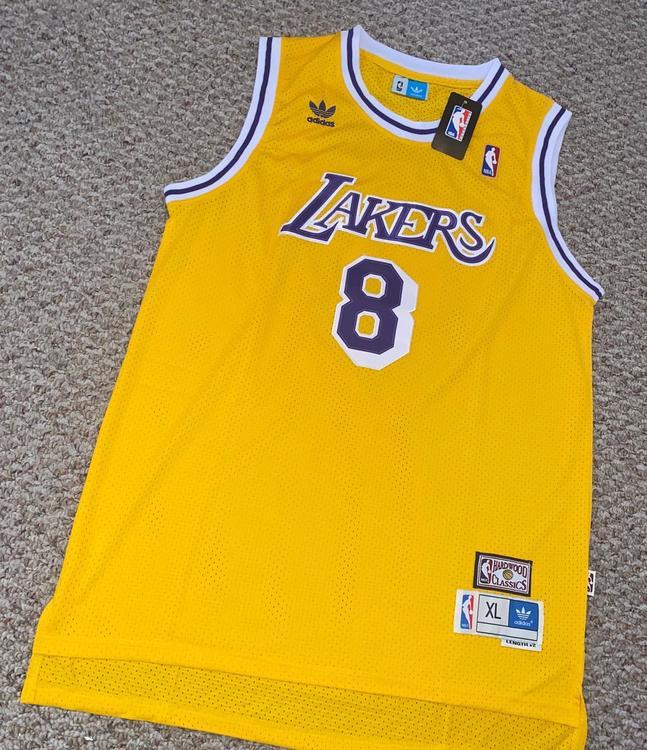 Kobe Bryant #8 Hardwood Classics Los Angeles Lakers Size XL Jersey