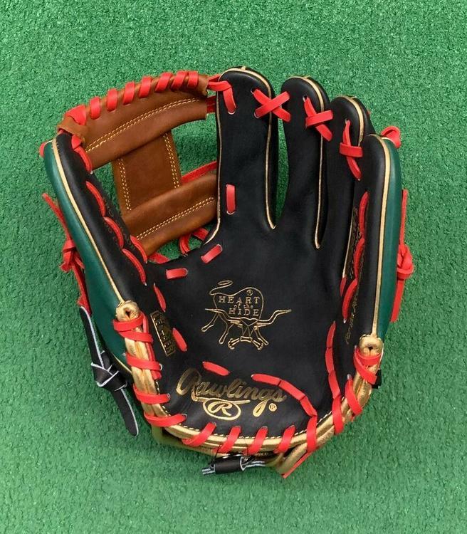 "Rawlings Heart of the Hide 11.75/"" Custom Mexico Edition Baseball Infield Glove"