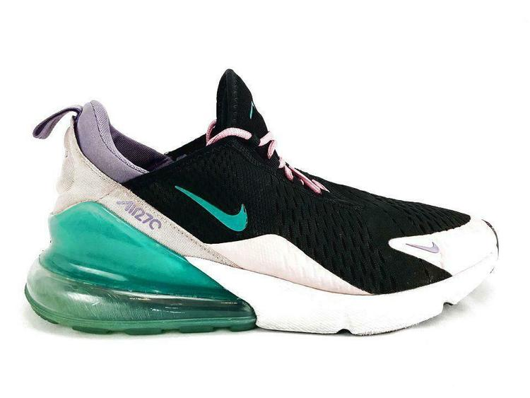 Nike Air Max 270 Mens Size 11 45 Black/Pink/Green C12309-001 Athletic Shoes
