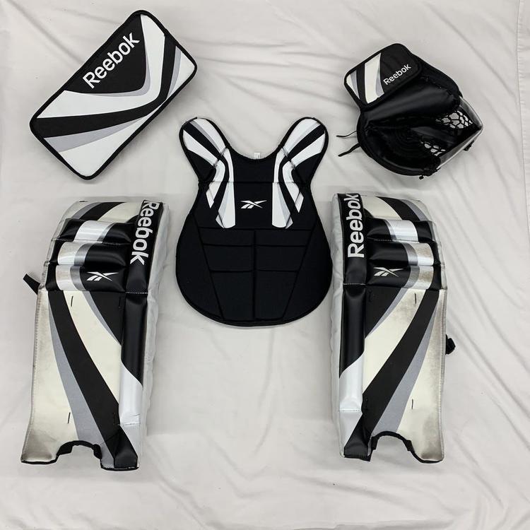 reebok street hockey goalie set