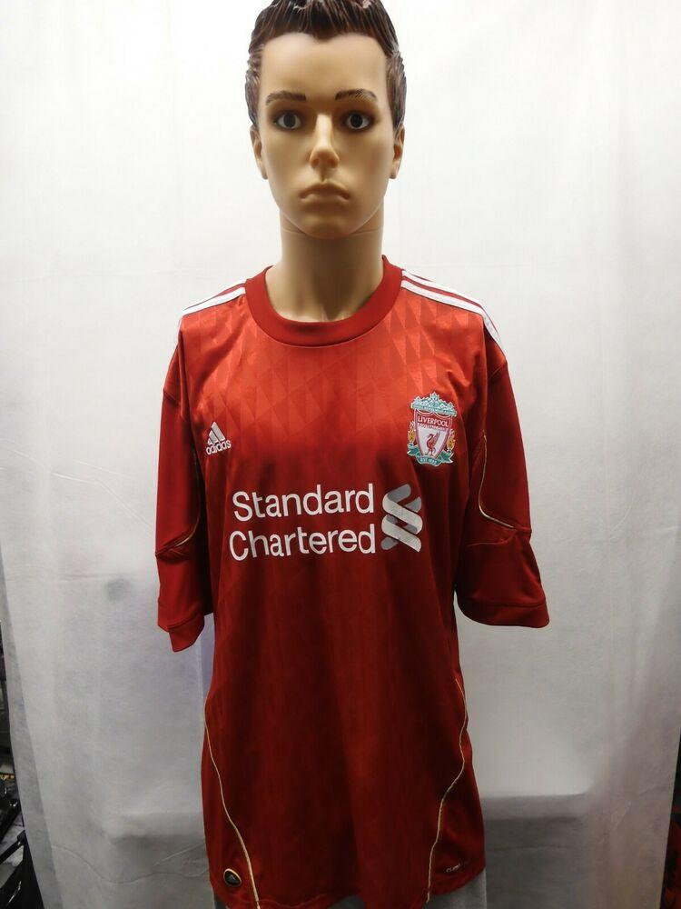 Liverpool FC Adidas Climacool 2010-2011 Jersey XXL 2XL Red EPL ...