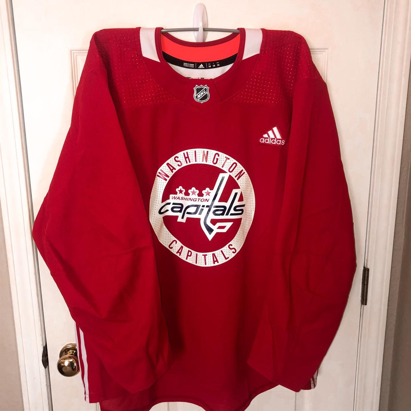 Washington Capitals Adidas Practice team-issued Made in Canada ...