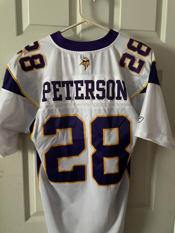 White Throwback Adrian Peterson Minnesota Vikings Authentic Adult Large Jersey | SidelineSwap