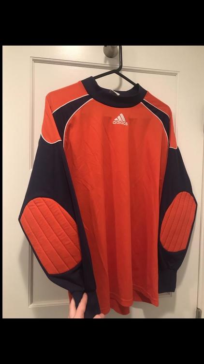 Adidas Navy Orange Soccer Goalie Jersey With Padded Elbows Size Medium   SidelineSwap