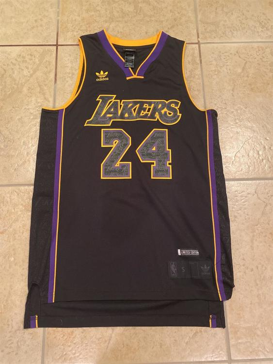 Limited Edition Kobe Bryant Black Adult (Small) Adidas Jersey