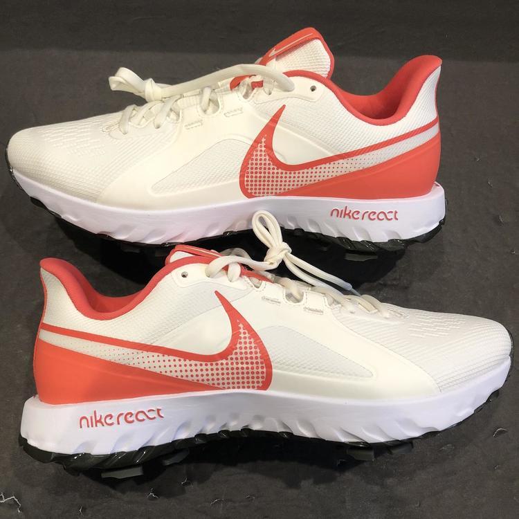 Size 9.5) Nike React Infinity Pro White/Orange Golf Shoes Men's ...