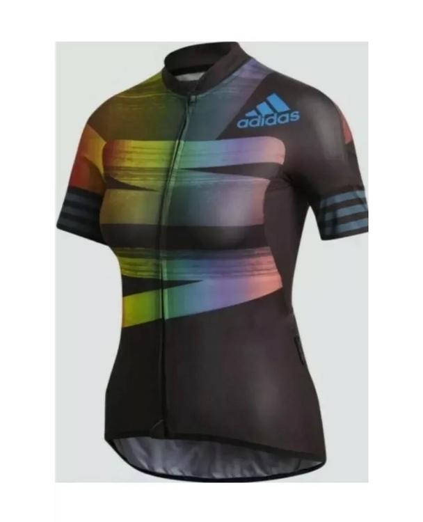 Adidas Women's Adistar Pride Cycling Biking Jersey Bike Top FJ6570