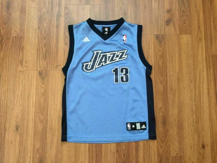 Utah Jazz Mehmet Okur #13 SUPER AWESOME Adidas Boys Sz Medium Basketball Jersey!