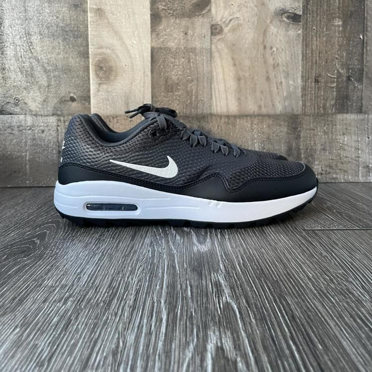 Nike Air Max 1 G Spikeless Golf Shoes White/Black Size 10 Women's 8.5 Men's
