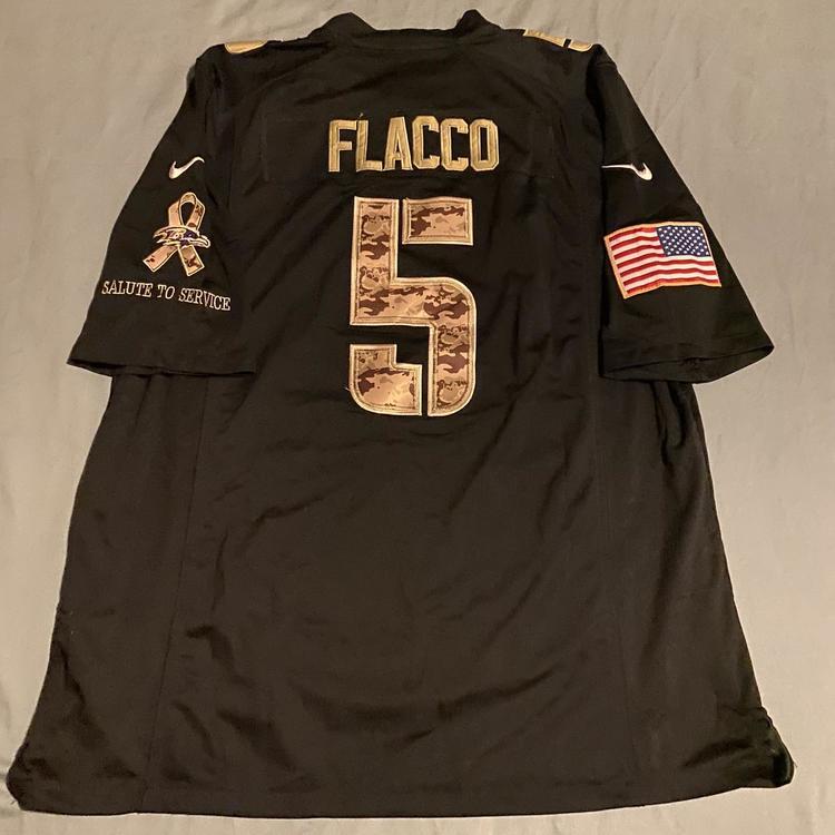Joe Flacco Salute To Service Baltimore Ravens Replica Football Jersey | SidelineSwap