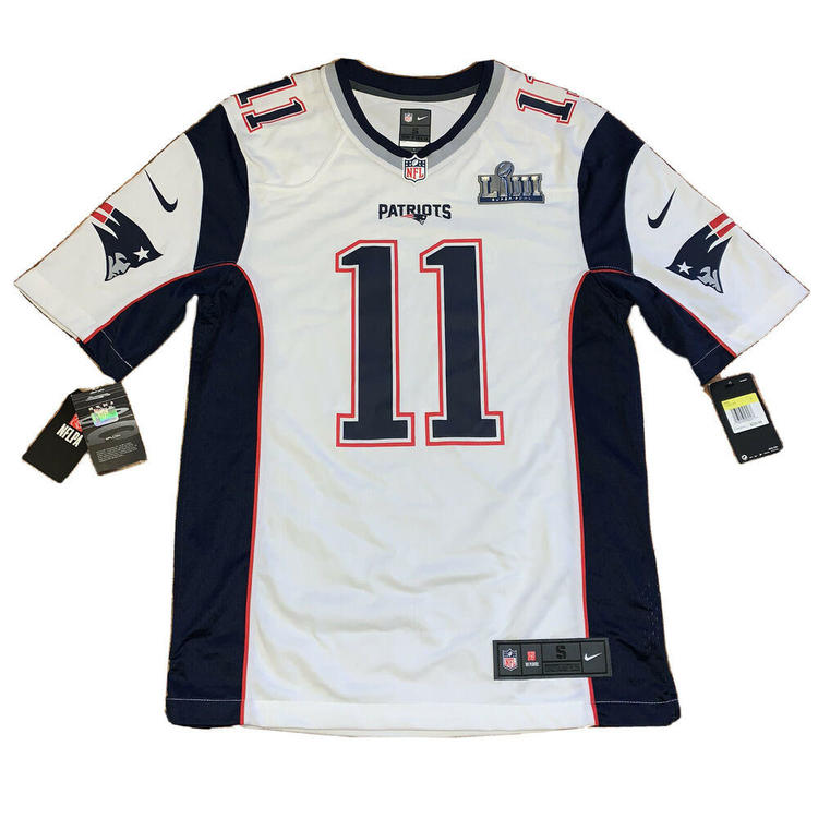 Authentic Julian Edelman New England Patriots Nike Super Bowl LIII Game Jersey S
