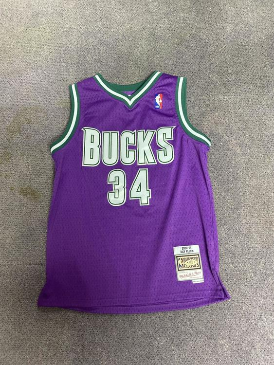 Ray Allen Vintage Bucks Jersey
