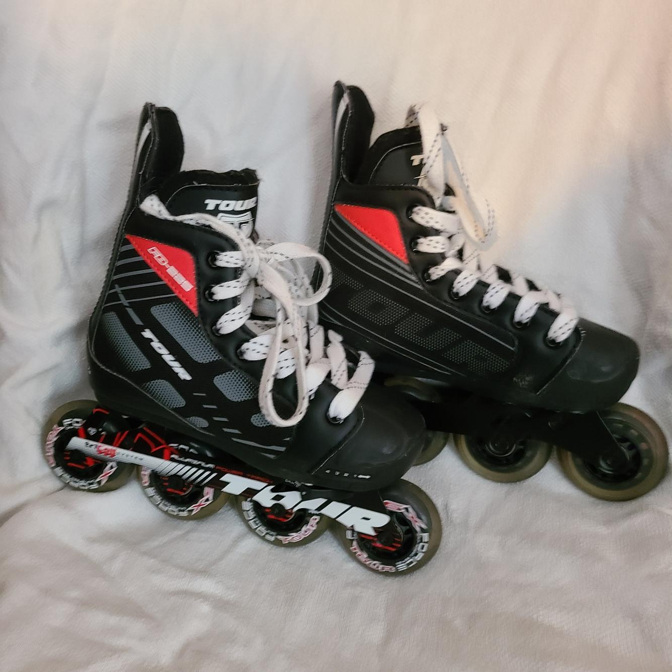Tour Nano Code Technology Fb 225 Inline Hockey Rollerblade Youth Size 1 4 Inline Roller Street Hockey Skates