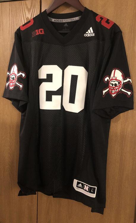 Adidas Nebraska Cornhuskers #20 Blackshirts Premier Football Jersey Large L Rare