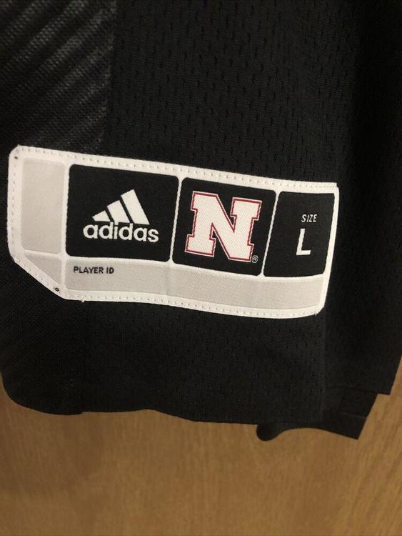 Adidas Nebraska Cornhuskers #20 Blackshirts Premier Football Jersey Large L Rare   SidelineSwap