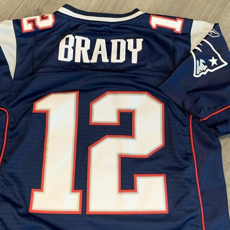 tom brady jersey youth large