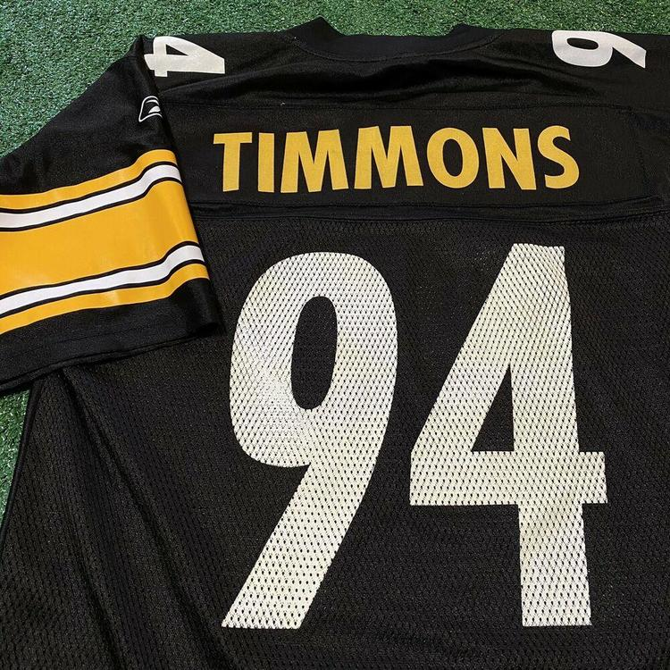 Lawrence Timmons Pittsburgh Steelers Jersey Mens Medium NFL Football Black 94