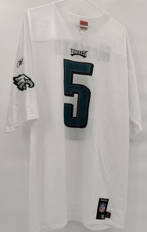 Philadelphia Eagles Donovan McNabb White Reebok NFL Football Jersey Size Adult XL MINT CONDITION