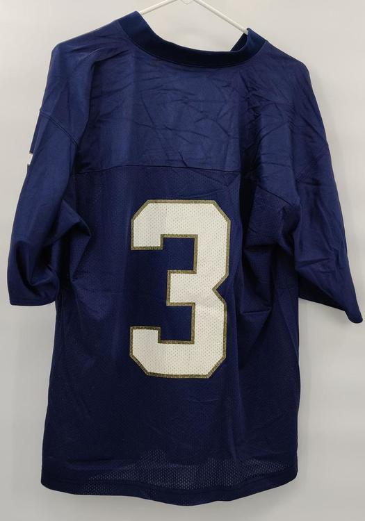 Notre Dame Fighting Irish NCAA Adidas #3 Blue College Football Jersey Adult Medium Mint Condition | SidelineSwap