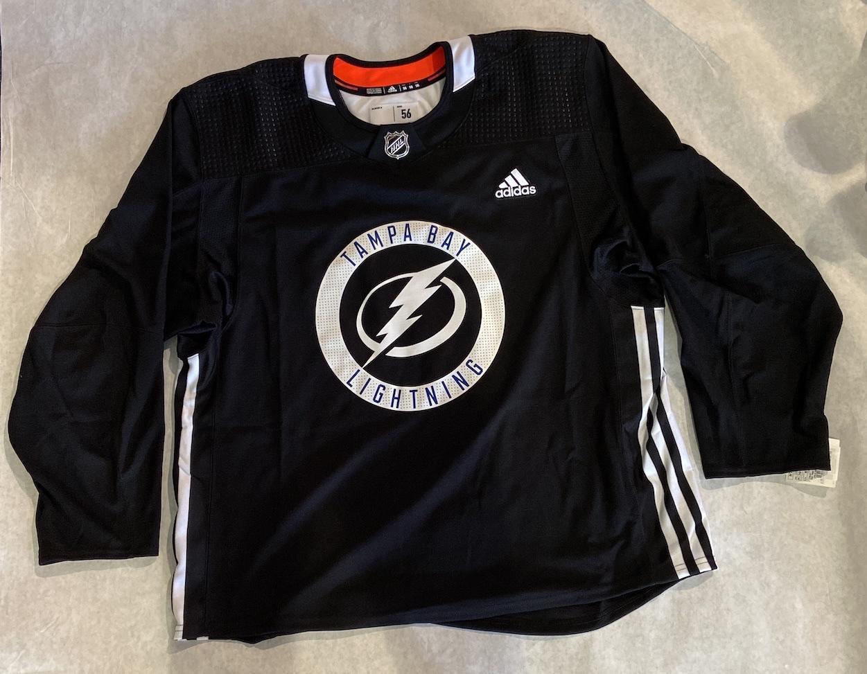 Tampa Bay Lightning MIC Adidas Black Practice Jersey Adult Size 56 ...