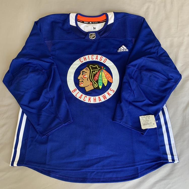 Made in Canada Pro Stock Adidas Practice Jersey - Chicago Blackhawks 56