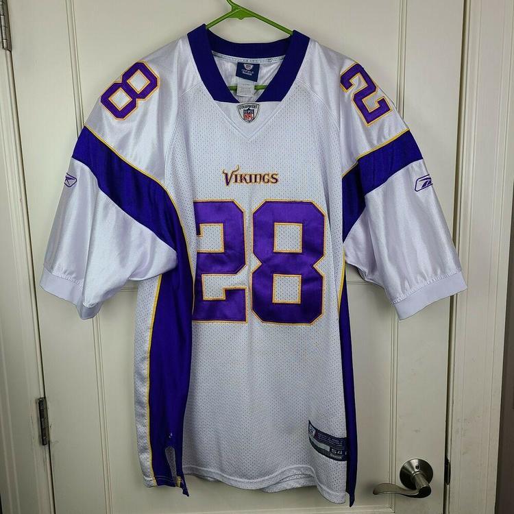 Minnesota Vikings Adrian Peterson #28 NFL Reebok Onfield Sewn Jersey Adult 54