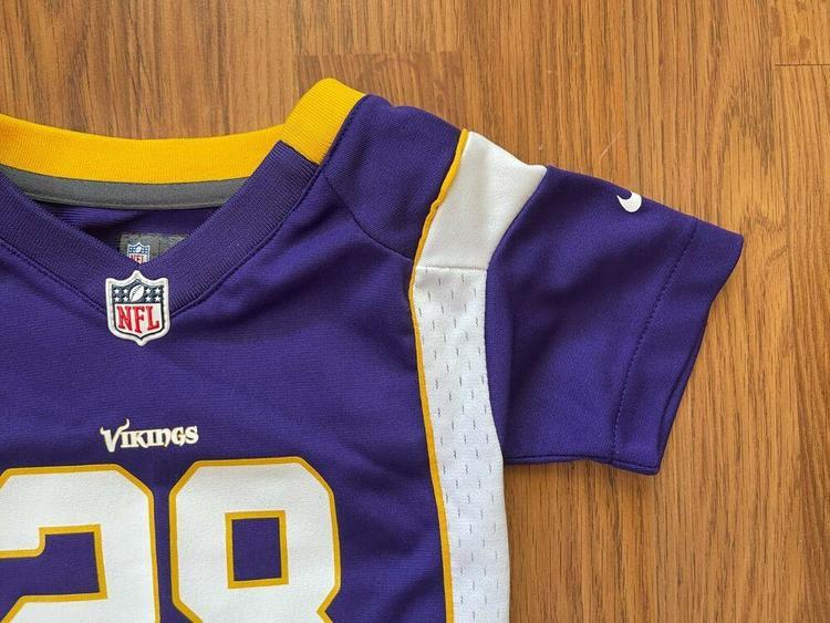 Minnesota Vikings Adrian Peterson #28 NFL Infant Size 12M Baby Football Jersey! | SidelineSwap