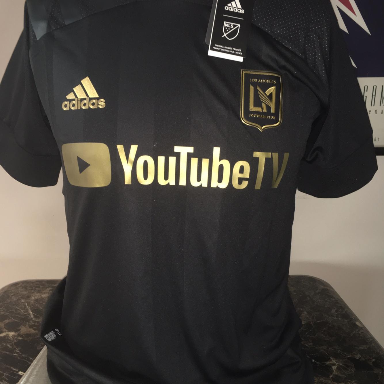 adidas Men's LAFC 2020-21 Home Jersey Black/Gold FL9602 Medium NWT ...