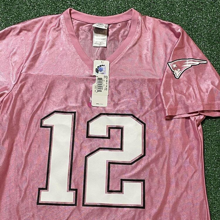 Tom Brady New England Patriots Jersey Girls XL Youth Pink NFL Football New Tag