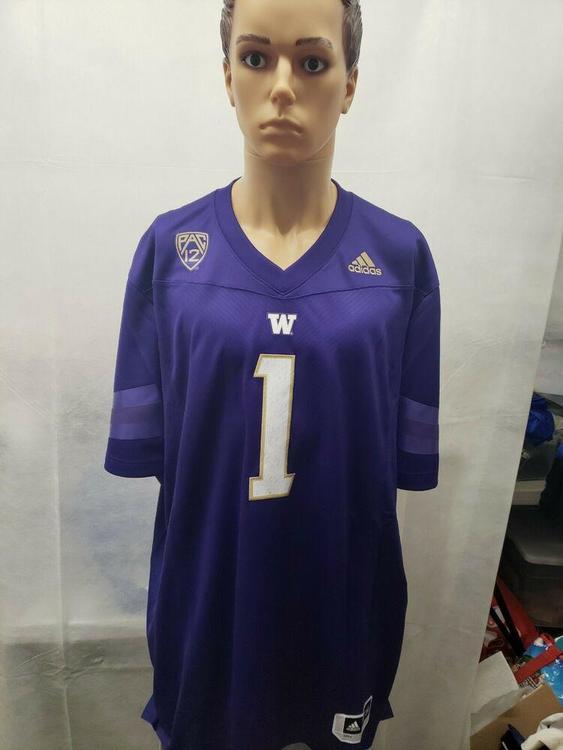NWT Washington Huskies Huskies Adidas Football Jersey 3XL NCAA