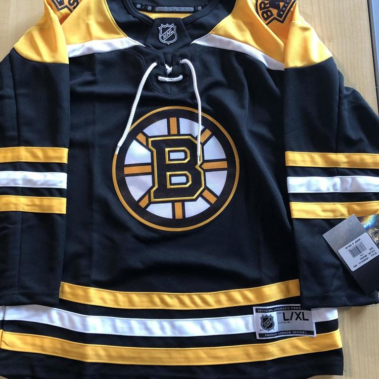Black Youth Large Boston Bruins Adidas Jersey