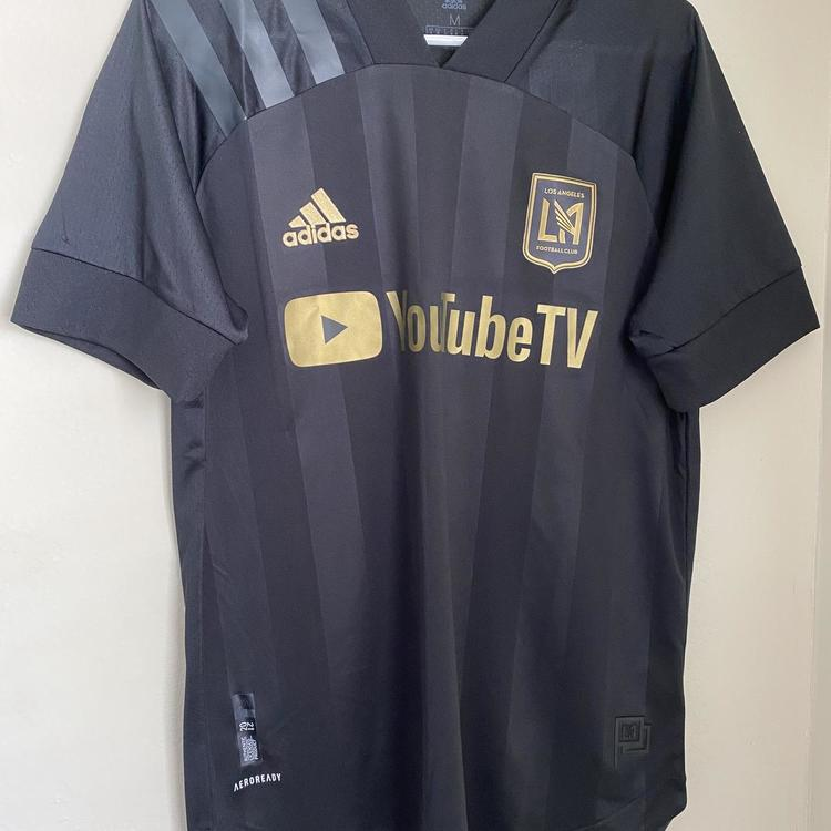 Adidas Men's LAFC 2021 Authentic Soccer Home Jersey Black Gold Size M