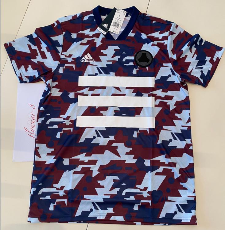 Adidas TANGO Graphic Digital Camo Soccer Jersey Aeroready FS5074 NWT Men's Large