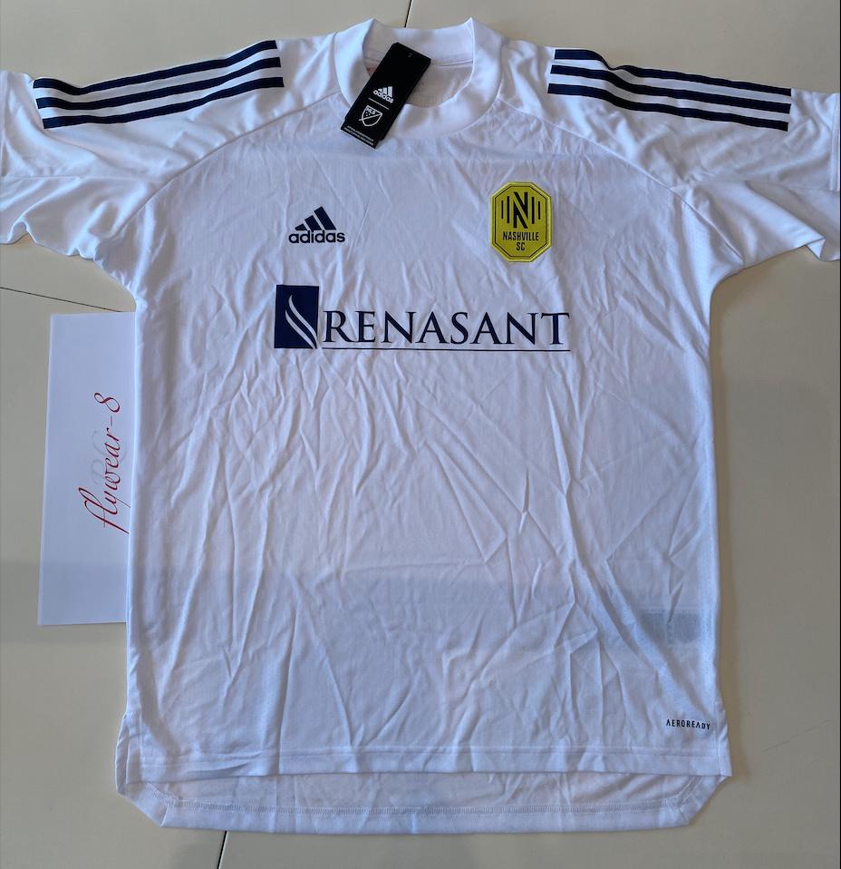 White Unisex New XL Adidas Jersey Nashville SC MLS Adidas Training Soccer Jersey White Mens Size XL
