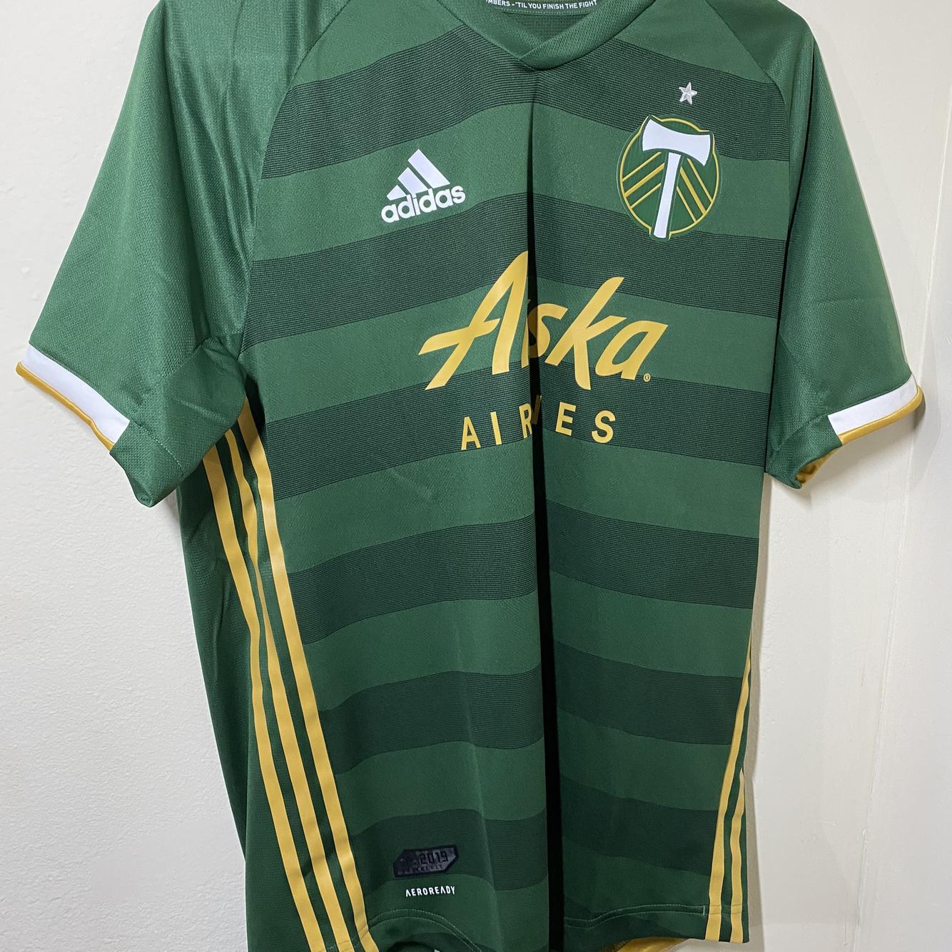 adidas 19/20 MLS Portland Timbers Authentic Home Jersey Men's Size medium