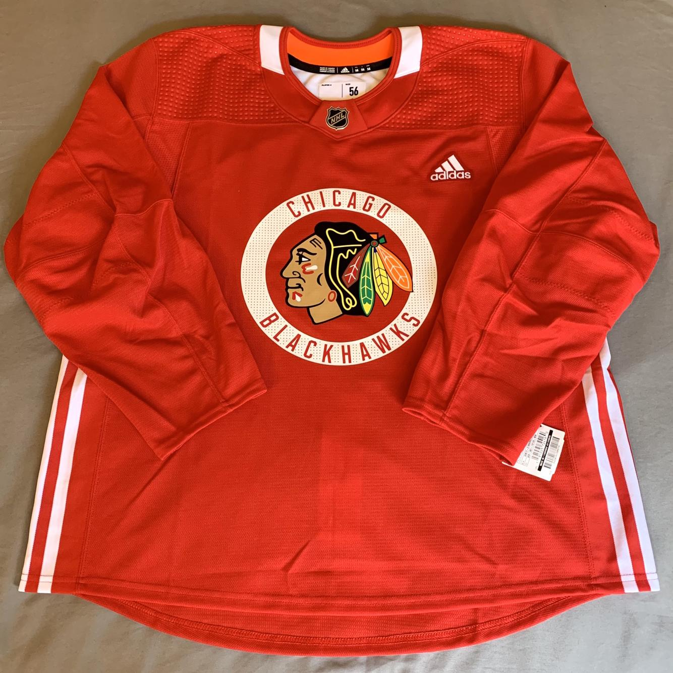 Size 56 Made in Canada Adidas Pro Stock Practice Jersey - Chicago ...