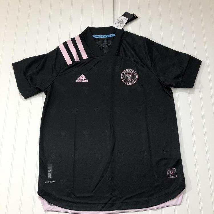 Adidas Miami International Soccer Jersey 2021 Black Pink EH8635