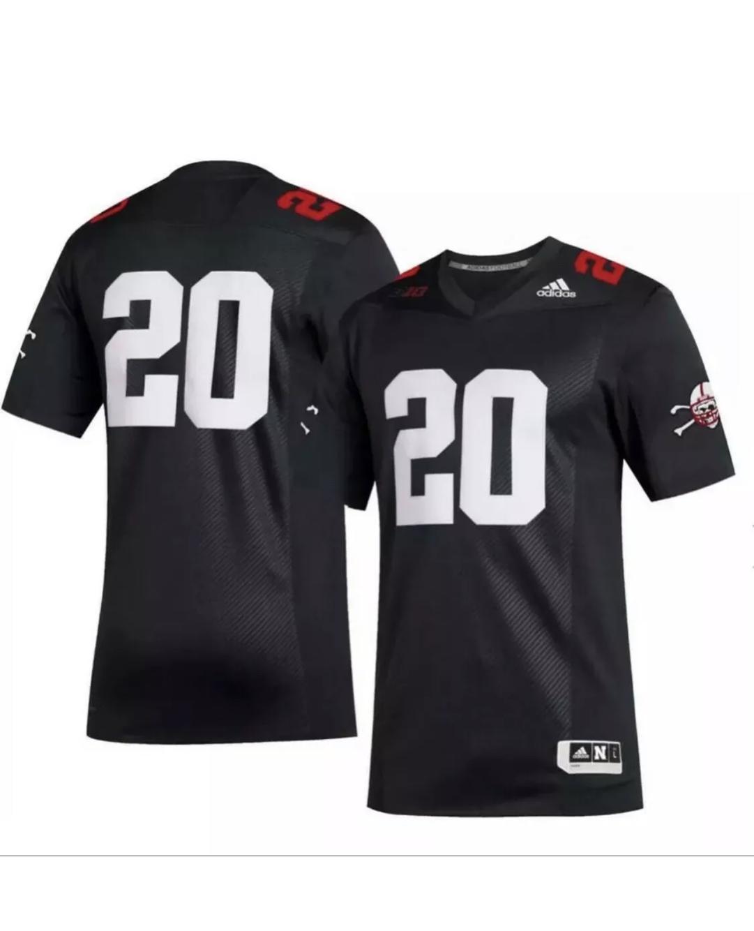Adidas Nebraska Cornhuskers blackshirts Football Jersey Black ...