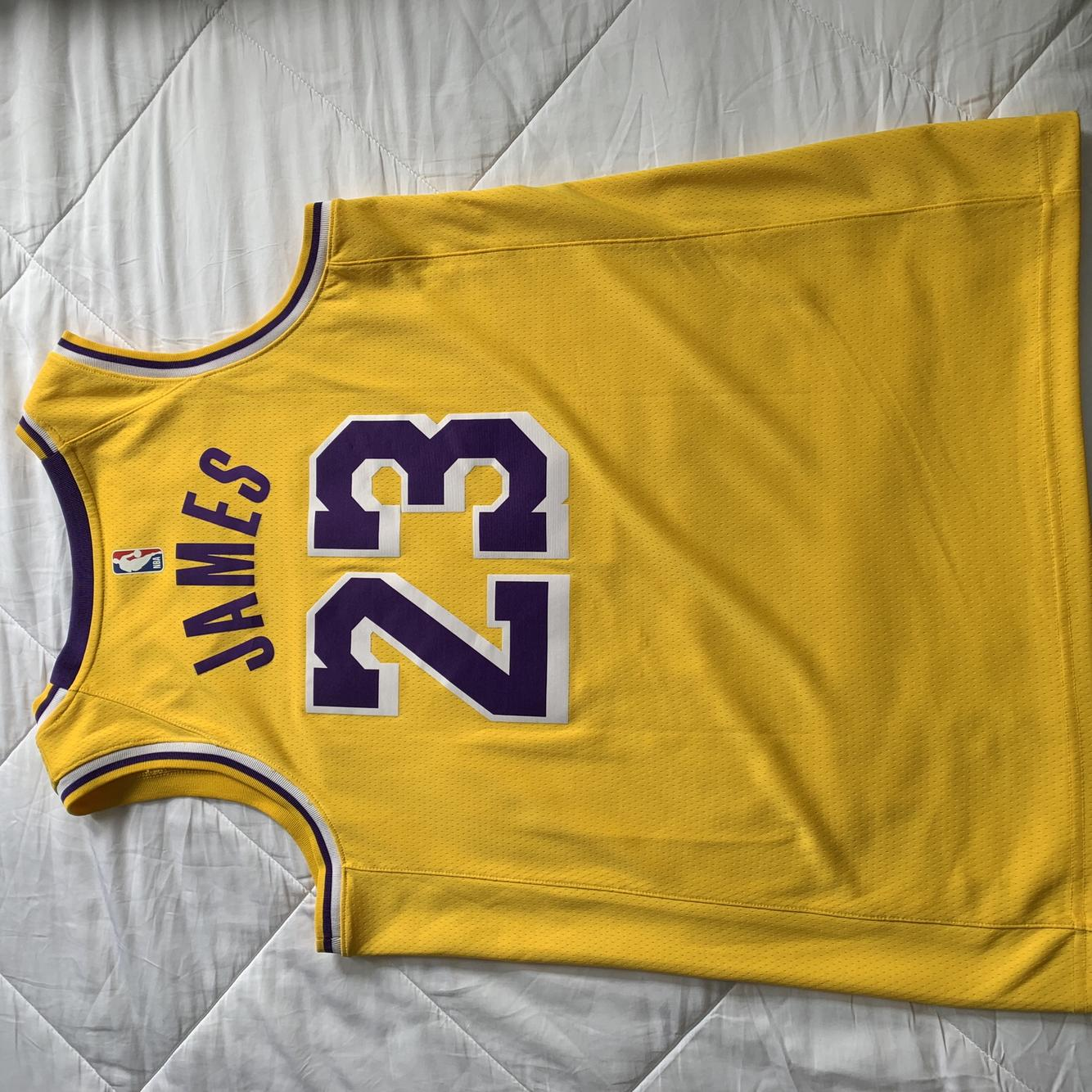 Lebron James Nike Swingman Lakers Jersey (Large)