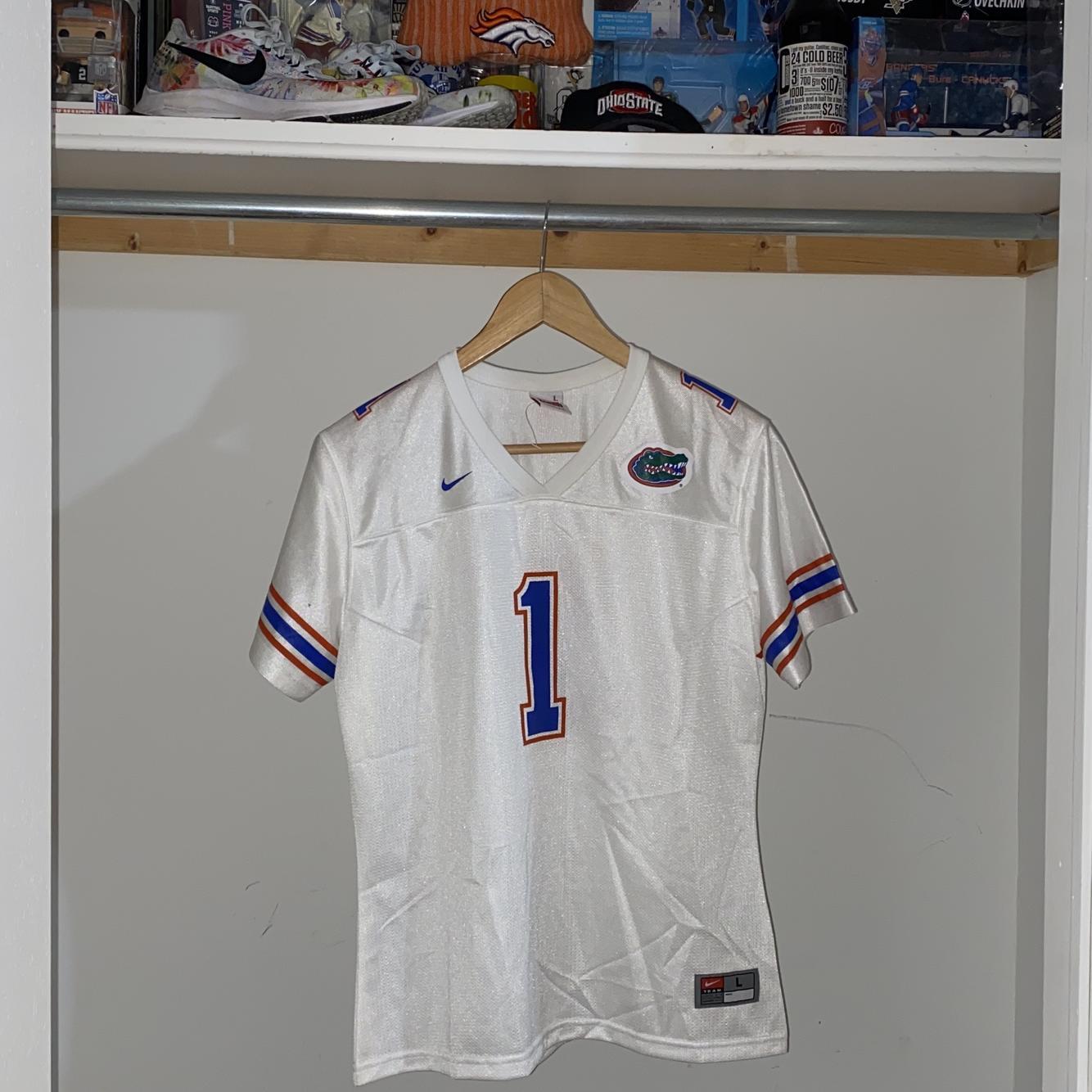 Florida Gators Authentic Nike NCAA SEC Jersey - White - Youth 12-14 Large