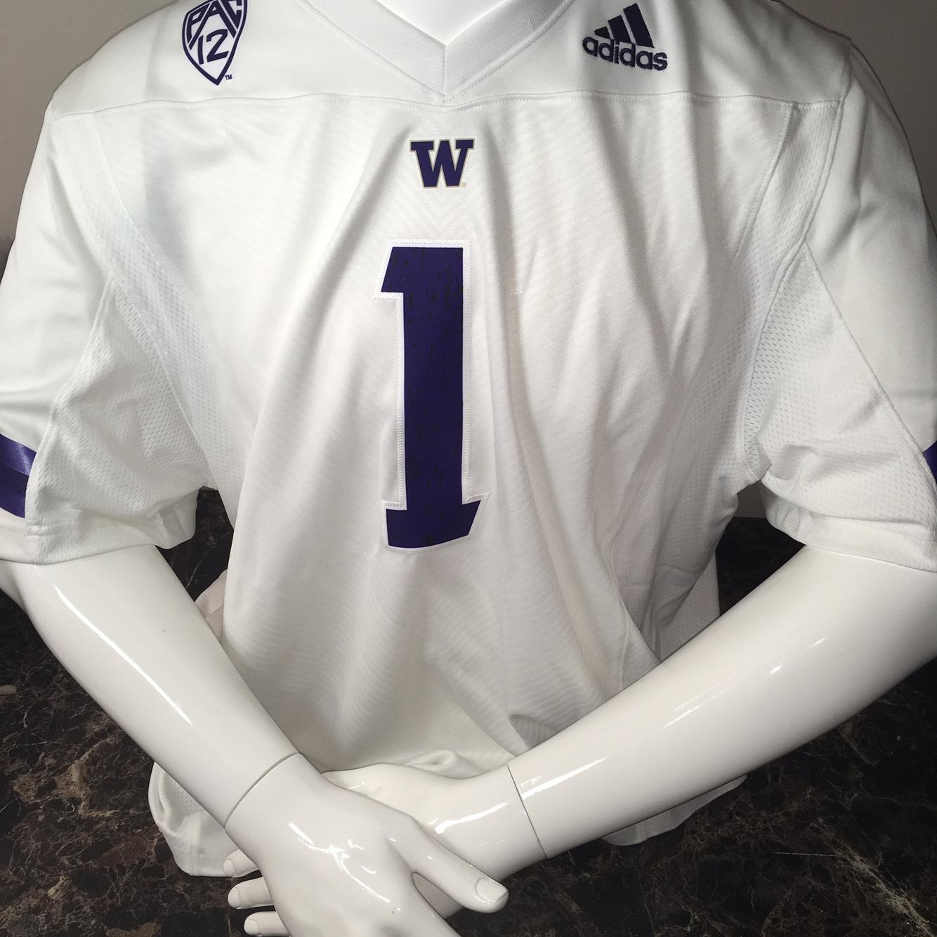 University of Washington UW Huskies Adidas Football Jersey #1 ...