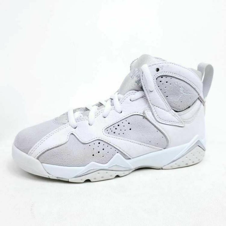 No Insoles Air Jordan 7 Retro Pure Money Youth Size 4Y Basketball Shoes White